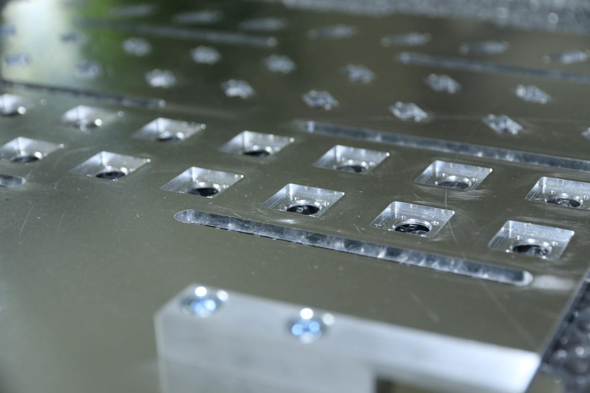 Gefräste Aluminiumplatte aus der Betriebsmittelkonstruktion