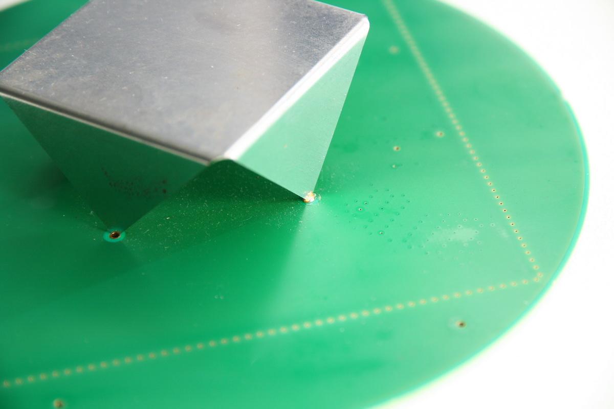 Blechteilkonstruktion Strahlungsblech GPS-Antenne