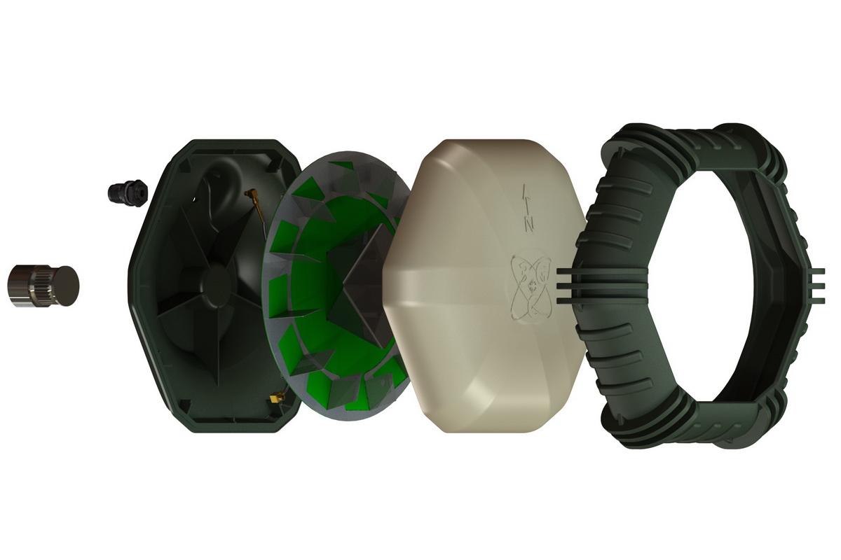 CAD Rendering GPS Antenne, Gehäuseentwicklung